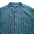 Big Dogs 4X Mens Flannel Shirt Big Tall XXXXL 4 XL Plaid Check 100% Cotton Blue