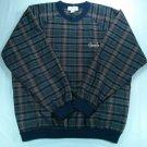 Izod Mens Pullover V Neck Windbreaker Golf Vintage Plaid Check Logo Large L