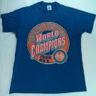 Detroit Pistons Blue 1990 World Champions Vintage NBA L 42-44 T Shirt Logo 7