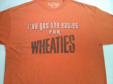 Ive Got The Eaties For Wheaties Retro Orange T Shirt Throwback Cereal T Shirt