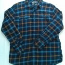 Nautica Flannel Blue Medium M Mens Shirt Camping Hunting Out Door Lumber Jack