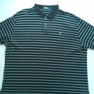 Ralph Lauren Polo Stripe Blue Mens Shirt XXL 2X 2XL X X Large Dress Casual Pony