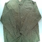 "Woolrich Mens Large L Button Up Front Brown Long Sleeve ""X"" Pattern Shirt Hatch"