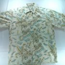 Pierre Cardin Hawaiian Shirt Map Flower Globe Sail Sailing Medium Mens Shirt