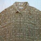 Via Veneto Hawaiian Shirt Magnum PI XL  X Large 100% Rayon Men's Hour Glass