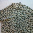 Pierre Cardin Hawaiian Shirt Magnum PI Beach Tree Pineapple Leaf 100% Rayon Mens