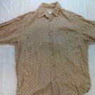 Clairborne Long Sleeve Men's Shirt 100% Rayon Diamond Medium M Long Sleeve Retro