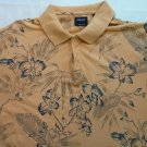 Izod Men's Polo Orange Cream Shirt Golf L Cotton Large Dress Casual Silk Wash