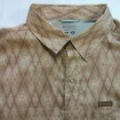 Columbia Sportswear Fishing Shirt Men's Medium M Snap Zip Zipper Pocket Beige