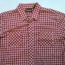 Red Plaid Check White Timber Ridge Quality Sportswear XLT Pocket Men's Shirt