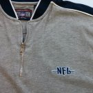 Gray Shield Gear Medium M Zip Zipper Ringer Blue Logo Heavy NFL Men's Shirt SS