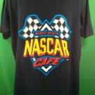 Large L Black Nascar Cafe T Shirt Myrtle Beach 100% Cotton TShirt Licensed Race