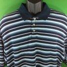 Columbia Sportswear XCO Blue Stripe Striped Men's Shirt XL XLarge X Large Golf