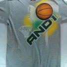Gray And 1 10/12 Medium T Shirt Basketball Street 4 Life Ball M Print Graphic