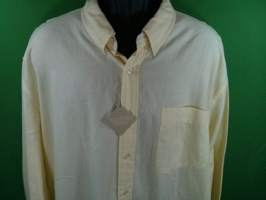 Field Gear The Big Shirt XL Yellow Button Front New Men's Shirt Yellow Long