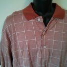 Westport Supply Co Mens Shirt 100% Mercerized Golf Polo Check Plaid Red XL Men