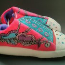 Skechers Twinkle Toes Girls 2-3 Light Up Sneaker Slipper Heart New Large L Pink