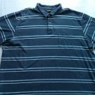 Eddie Bauer 2XL Blue Stripe Polo Mens Shirt Soft Heavy Camping Casual X X L  XXL