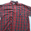 Disney Goofy Flannel Shirt Red Plaid Check Lumberjack Camping XL X Large Store