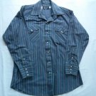 Blue Red Stripe Pearl Snap 16 33 Mens Cowboy Shirt Pan Handle Slim Western Long