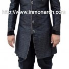 Traditional Black Wedding Indo Western 40R Ready to Ship Indian Men's Wear IN444
