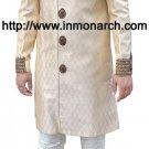 Fantastic Beige Indo Western Sherwani 40R Ready to Ship Indian Men's Wear IN433