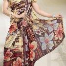 Bridal Party Wear Printed Georgette Saree Bollywood Designer Eid Sari SU512B