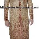 INMONARCH Mens Wedding Golden Beige Readymade Sherwani SH521 size 40R