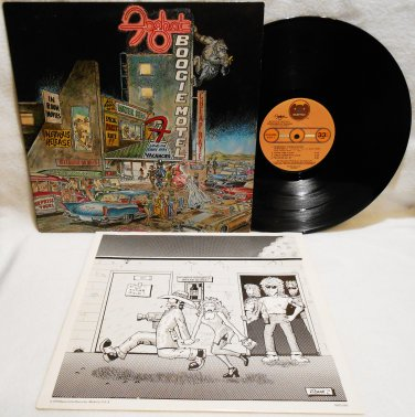 FOGHAT BOOGIE MOTEL VINYL MUSIC RECORD LP ALBUM PROMO 1979 ROCK EX/EX