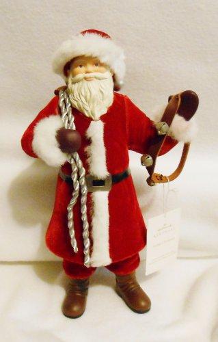 "Santa Figure Hallmark ""Father Christmas"" Large 12"" Tall Tabletop Mantel Santa NIB"
