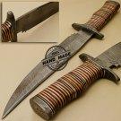 Damascus Bowie Knife Custom Handmade Damascus Steel Hunting Knife 887