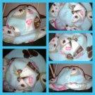 Baby girl's owl print bucket hat