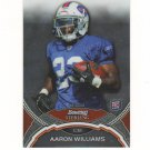 2011 Bowman Sterling Aaron Williams Rc #11 Buffalo Bills