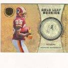 2011 Panini Gold Standard Gold Leaf Rookies Leonard Hankerson Rc #d 178/299 Washington Redskins