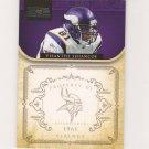 2011 National Treasures Visanthe Shiancoe #d 14/99 Minnesota Vikings