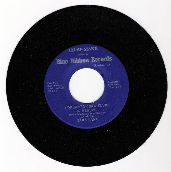 Elvis Presley 1982 Tribute Record I Dreamed I Saw Elvis in Heaven by Sara Lane