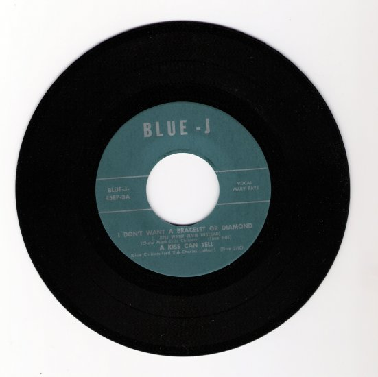 Elvis Presley Tribute Record I Don't Want a Bracelet or Diamond (I Just Want Elvis Instead) 1962
