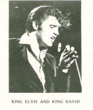 Elvis Presley King Elvis and King David Religious Tract Circa 1978