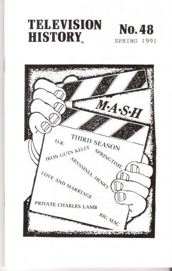 Television History Magazine Spring 1991 TV M*A*S*H 1974-75 Third Season Profile