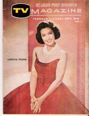 Loretta Young St. Louis-Post Dispatch TV Magazine September 20, 1959