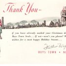 1940s Boys Town Christmas Greetings Postcard
