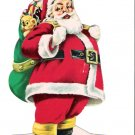 1966 Santa Claus Die-Cut Bank Advertising Paper Ornament