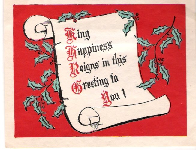 1940 Theatrical Exchange of St. Louis Christmas Card