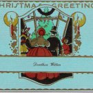 1929 Christmas Card With Envelope