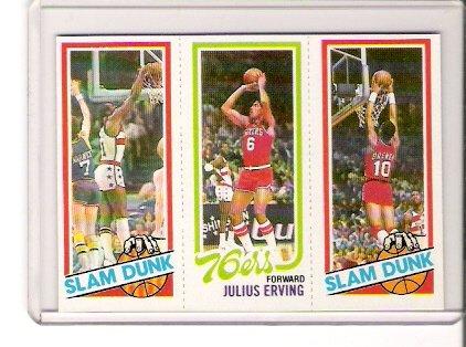1980-81 Topps Julius Erving/Elvin Hayes Basketball Card