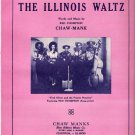 1948 Sheet Music The Illinois Waltz Prairie Pioneers On The Cover