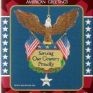 American Greetings 2004 Serving Our Country Proudly U.S. Military Christmas Ornament Mint in Box