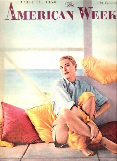 1956 The American Weekly Magazine Grace Kelly Cover