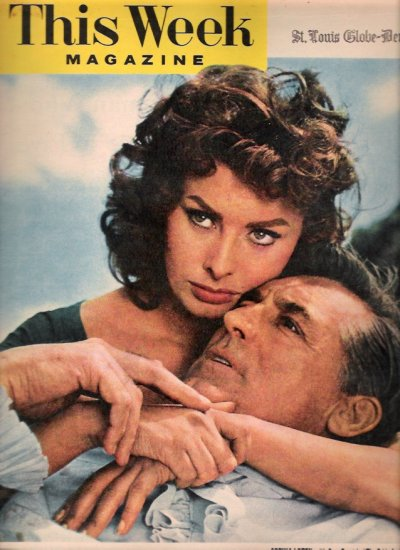 Sophia Loren & Cary Grant September 23, 1956 This Week Magazine The Pride & the Passion