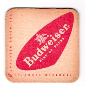 Vintage Budweiser Anheuser-Busch Beer Coasters 1960s Lot of 24 New Unused